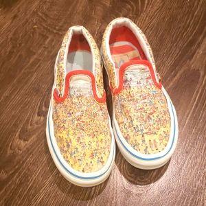 Vans X Where's Waldo? Slip-On Kid's Sneakers